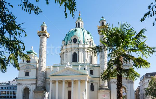 Barok Viyana Avusturya kilise hurma ağacı dini Stok fotoğraf © manfredxy
