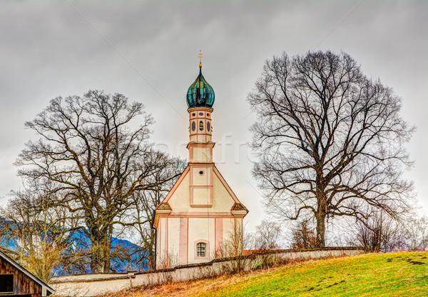 Barroco iglesia árbol historia torre religiosas Foto stock © manfredxy
