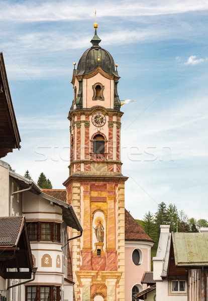 Historic church in Mittenwald Stock photo © manfredxy