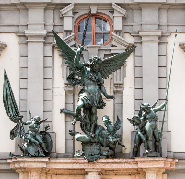 ангела скульптуры фасад архитектура Европа крыло Сток-фото © manfredxy