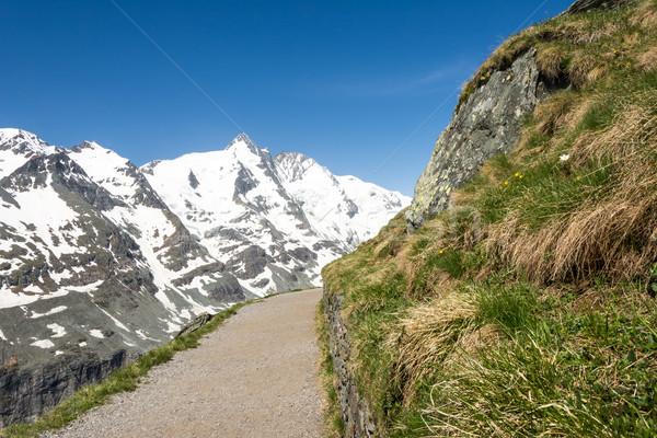 Alpine yol dağ Avusturya bahar buz Stok fotoğraf © manfredxy
