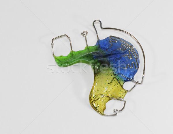ブレース 医療 緑 青 プラスチック ストックフォト © manfredxy
