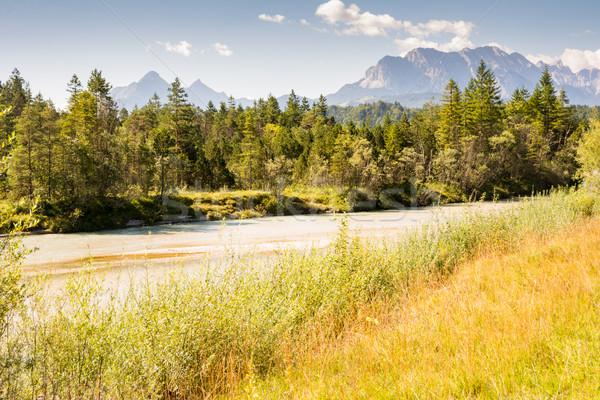 River Isar in the Karwendel mountain range in Bavaria Stock photo © manfredxy
