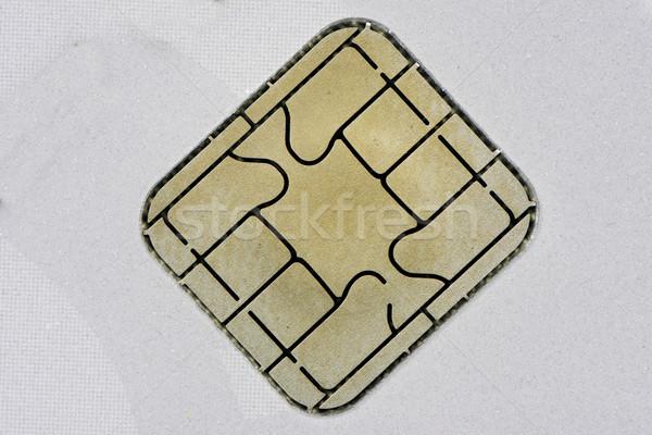 Chip tarjeta seguridad tarjeta de crédito tecnología financiar Foto stock © manfredxy