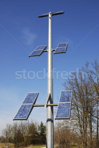 Hernieuwbare energie fotovoltaïsche technologie Blauw Stockfoto © manfredxy