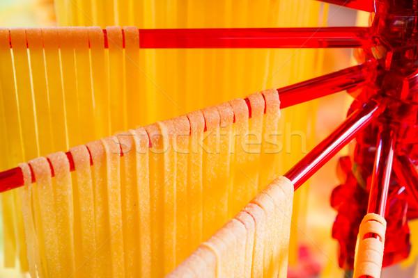 Drying Self-made Italian Pasta Stock photo © manfredxy