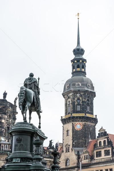 王 ドレスデン 建物 アーキテクチャ 彫刻 ドイツ ストックフォト © manfredxy