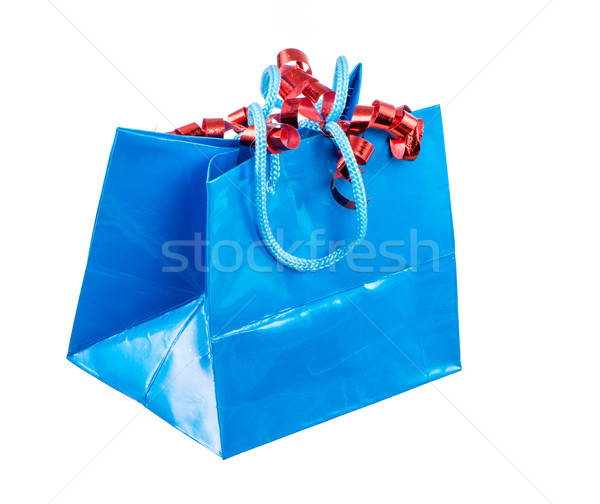 Isolated Present Bag with Curled Ribbon Stock photo © manfredxy