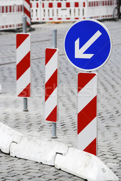 Road Construction Barricade Stock photo © manfredxy