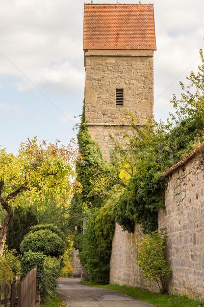 Középkori óra torony történelmi óváros város Stock fotó © manfredxy
