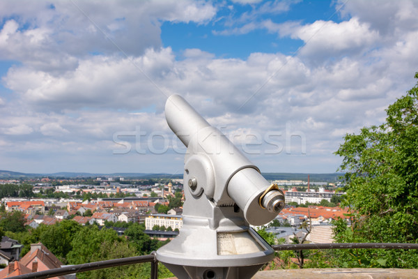 Observation point with aerial view over  Bamberg Stock photo © manfredxy