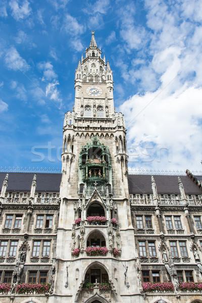 Munich ayuntamiento ciudad arquitectura Alemania fachada Foto stock © manfredxy
