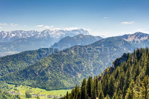 Alpino view legno montagna montagna Europa Foto d'archivio © manfredxy