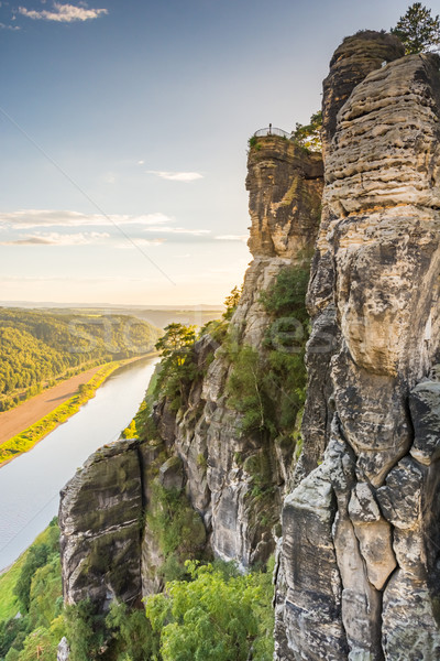 River Elbe in the Elbe Sandstone Mountains Stock photo © manfredxy
