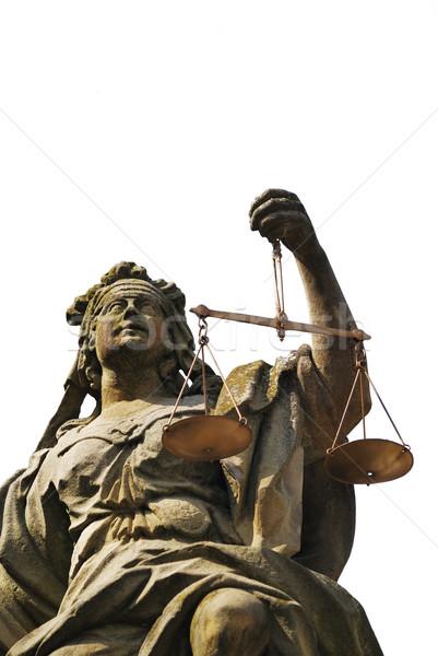 Szobor hölgy igazság mérleg egyensúly szobor Stock fotó © manfredxy