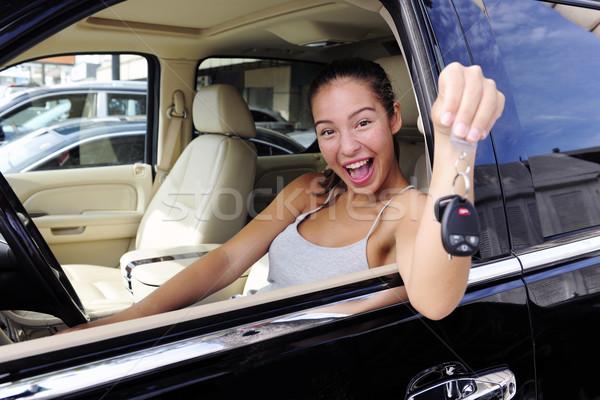 女性 キー 新しい 四輪駆動車 車両 ストックフォト © mangostock