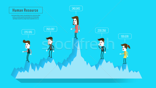 business people on graph with score.  Stock photo © mangsaab