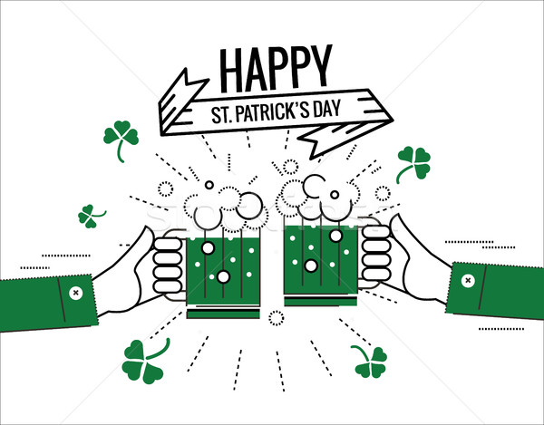 Happy  Saint Patrick's day.  Stock photo © mangsaab