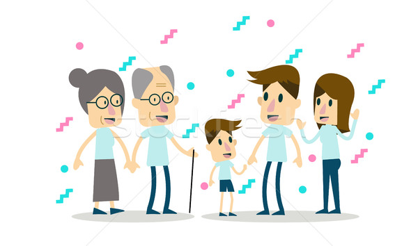Big family together. Stock photo © mangsaab