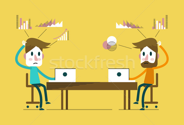 creative people working in co working office.  Stock photo © mangsaab