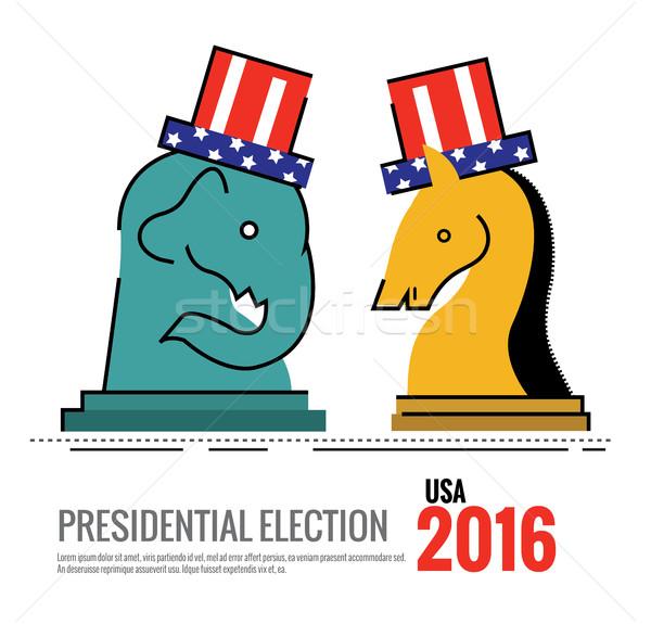 Election 2016 USA concept. Stock photo © mangsaab