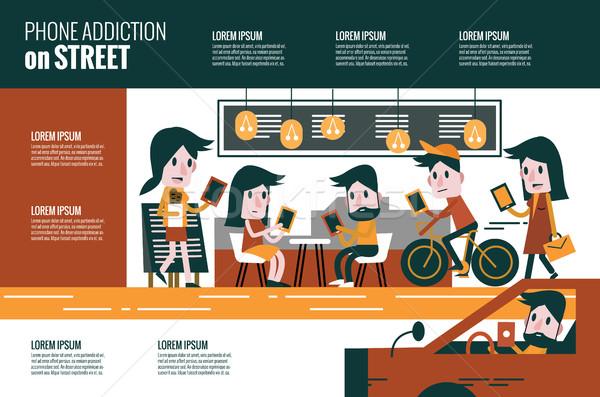 Bağımlılık sokak karakter dizayn Stok fotoğraf © mangsaab
