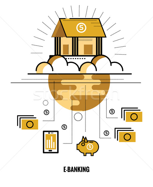 Online banking. World wide Connect.  Stock photo © mangsaab