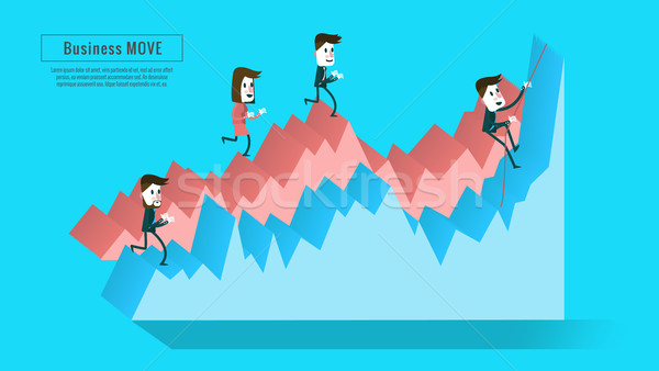 Business people on the graph.  Stock photo © mangsaab