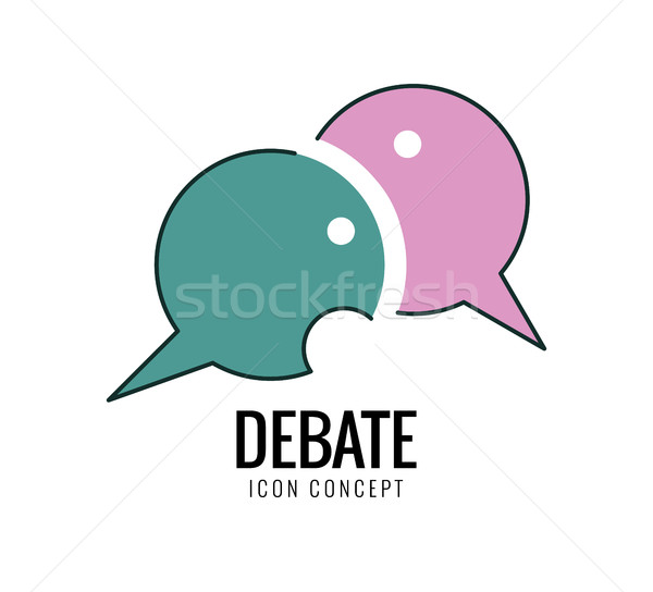 Debate and dialog, discussion, conversations symbol. Stock photo © mangsaab
