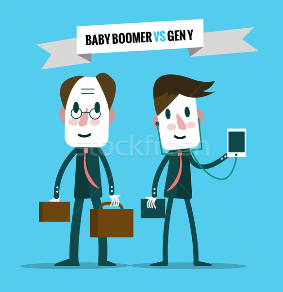 baby boomers  VS generation y.  Stock photo © mangsaab