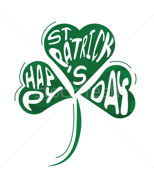 Green clover the symbol of St. Patrick's day.  Stock photo © mangsaab