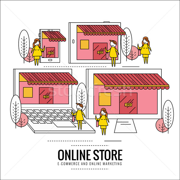 Online store, internet shopping.  Stock photo © mangsaab
