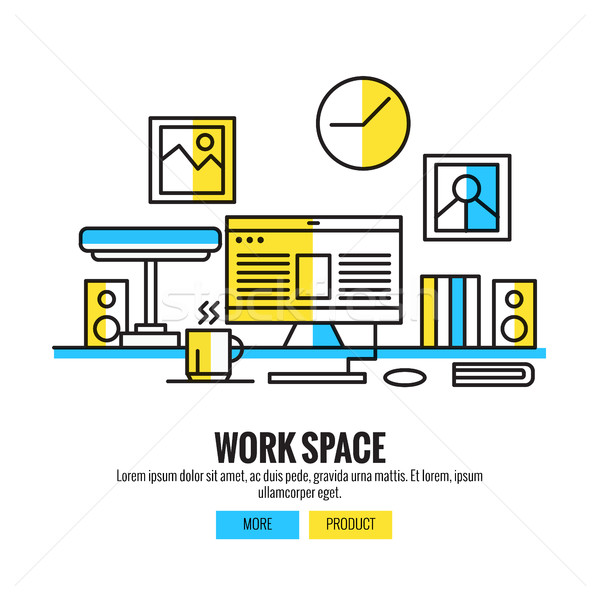 Working Space for Designers, Stock photo © mangsaab