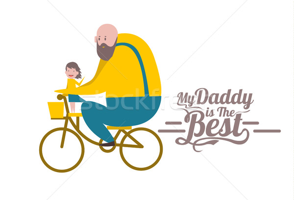 My daddy is the Best. Happy father's day. Stock photo © mangsaab