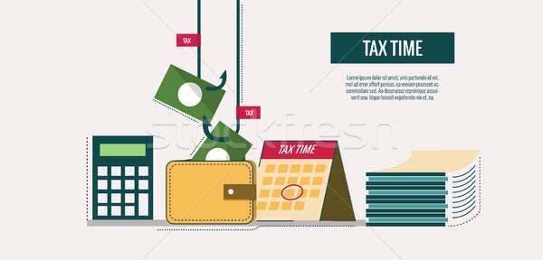 Impuesto tiempo sitio web banner plantilla anunciante Foto stock © mangsaab
