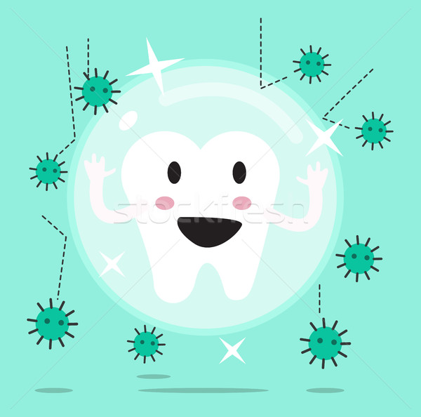 tooth being protected from decay or bacteria by barrier protection.  Stock photo © mangsaab
