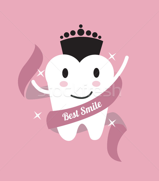 Best smile. tooth with a crown.  Stock photo © mangsaab