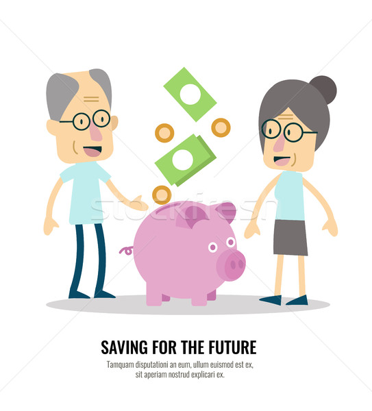 Old people with retirement savings. Stock photo © mangsaab