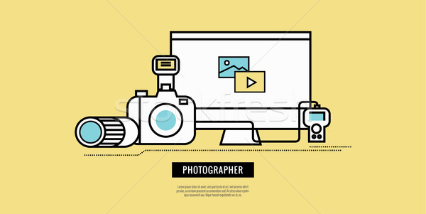 Photography equiment icons.  Stock photo © mangsaab