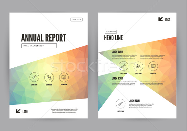 Annual report Leaflet Brochure Flyer template A4 size design. Stock photo © mangsaab