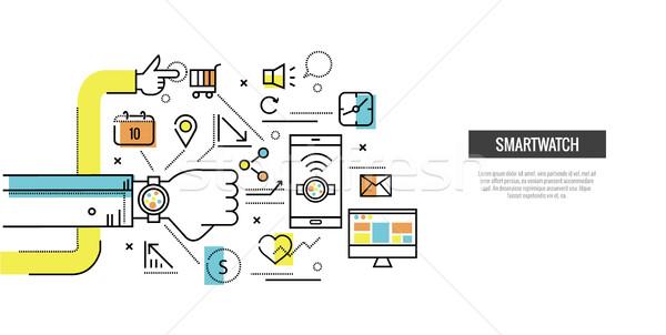 Inteligentes ver contactar ordenador sitio web Foto stock © mangsaab