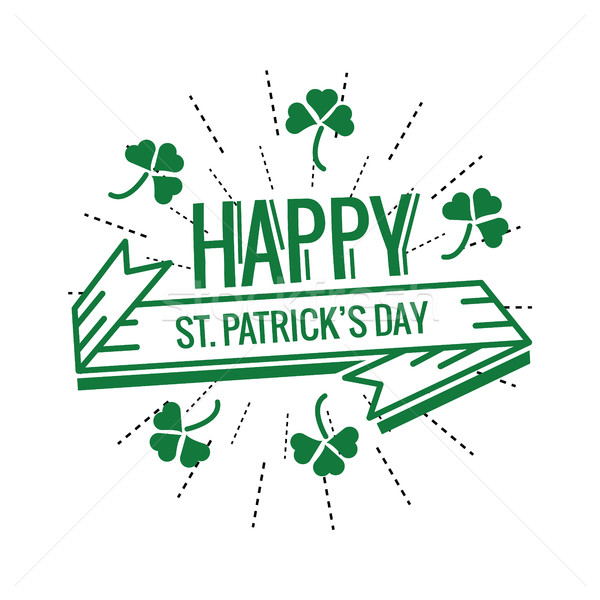 Saint Patrick's Day Typographical.  Stock photo © mangsaab