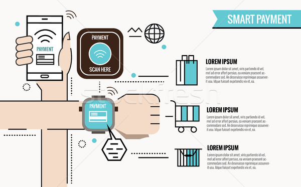 Smart Payment infographic.  Stock photo © mangsaab