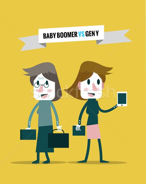 Bebé vs generación negocios humanos Foto stock © mangsaab