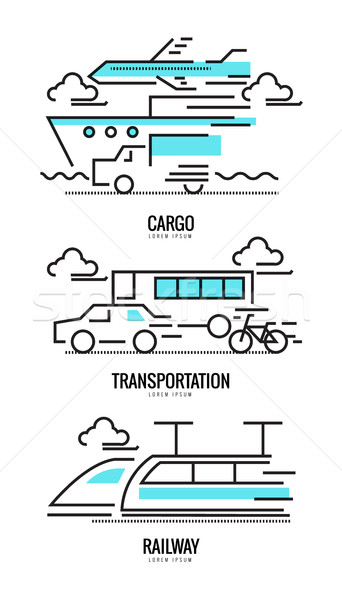 Cargo, railway and transportation concepts.  Stock photo © mangsaab