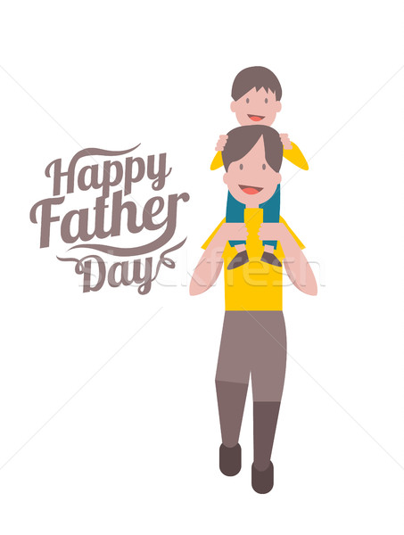 Happy father's day. Father and son.  Stock photo © mangsaab