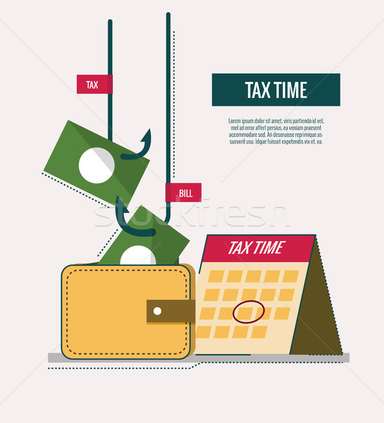 Tax time concept. website banner, template, poster, icons. Stock photo © mangsaab