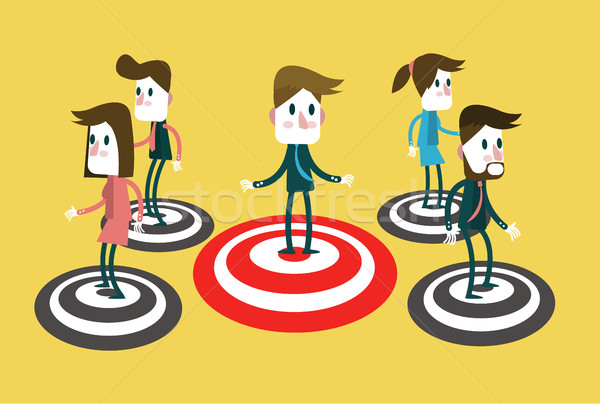 People standing on a Bullseye.  Stock photo © mangsaab