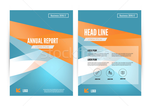 Sprawozdanie ulotka broszura ulotki szablon Zdjęcia stock © mangsaab