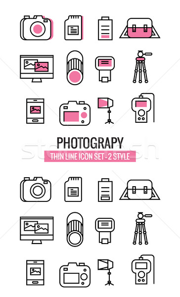 Photography icons.  Stock photo © mangsaab